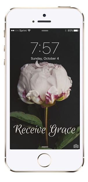 Receive Grace iPhone Wallpaper