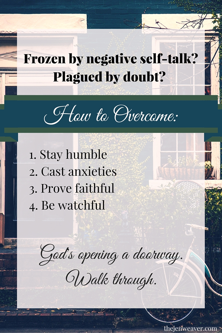 How to overcome negative self-talk and doubt to walk into the future God has for you.