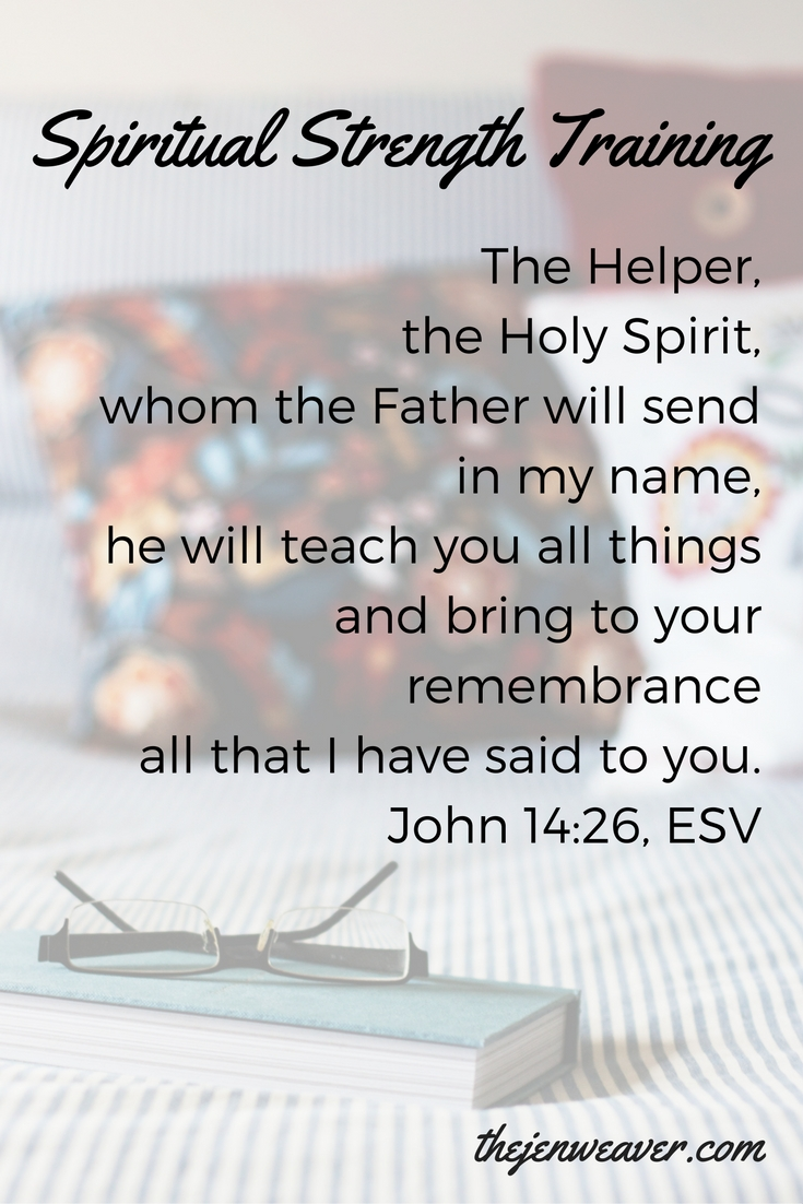 But the Helper, the Holy Spirit, whom the Father will send in my name, he will teach you all things and bring to your remembrance all that I have said to you. (John 14-26, ESV)